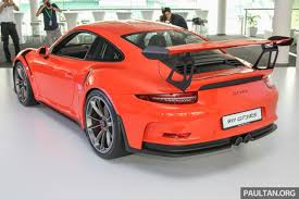 porsche gt3 malaysia porsche 911 gt3 rs in malaysia from rm1 75 million