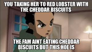 Boondocks Memes - un categorized you taking her to red lobster with the cheddar