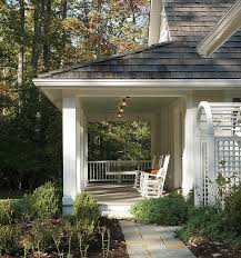 Cottage Front Porch Ideas by Lakeside Family Cottage By Barnes Vanze Architects Side View Of