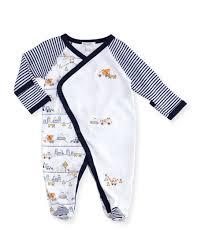 kissy kissy city demo pima footie pajamas size newborn 9m