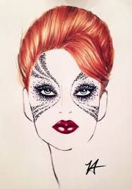 artistic face charts google search face chat pinterest