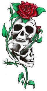 skulls and roses by skissored on deviantart