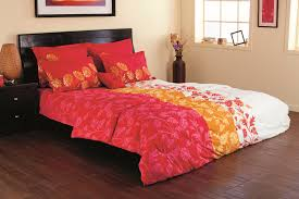 interior magnificent red nuance bedroom decoration using red sofa