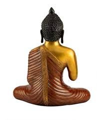 offerbrass golden dual color abhaya mudra lord buddha statue