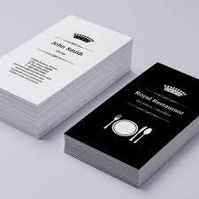 royal restaurant elegant modern black white business card templates