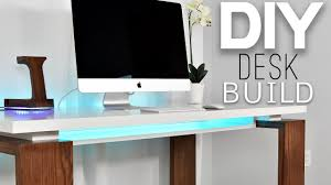 make a corner desk how to make a clean modern desk office gaming youtube