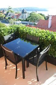 avalon black aluminium table petite retreat small balcony
