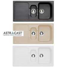 astracast rok granite composite kitchen sink u0026 waste kit 1 5 bowl