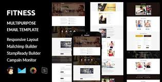 fitness multipurpose responsive email template stampready