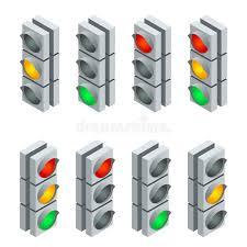 Traffic Light Order Traffic Signal Traffic Light Traffic Light Sequence Flat 3d