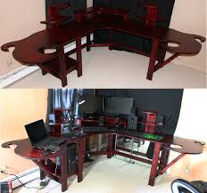 Gaming Pc Desk by Funky Gaming Computer Desk By Mariowned On Deviantart