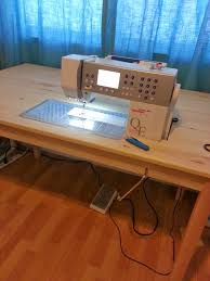 how to make a drop in sewing table sew e t diy ikea sewing table hack craft rooms pinterest