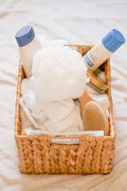chagne gift basket our mini family spa day gift basket