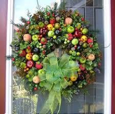wreath williamsburg style wreath with fruit
