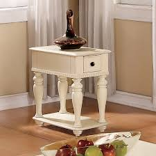 Power Chairside End Table Chairside End Tables Iron Wood