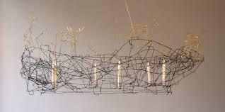 Wire A Chandelier Wire Chandelier In Home Decor Ideas With Wire Chandelier