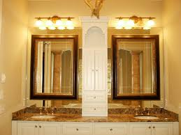 Bathroom Mirror Lighting Ideas Colors Bahtroom Pleasant Vanity Plus Simple Wash Basin Near Flower Decor
