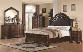 Cal King Beds Coaster Maddison King Sleigh Bed With Upholstered Headboard