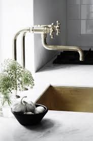 Wolverine Brass Kitchen Faucet by Kitchen Faucet Rapture Unlacquered Brass Kitchen Faucet