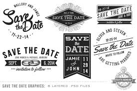 Save The Date Vintage Save The Date Overlays Objects Creative Market