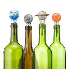 solar system glow in the bottle stoppers glass blowing