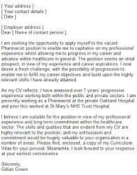 Sample Resume Of Pharmacist by Sample Pharmacist Cover Letter For Resume Letter Pinterest