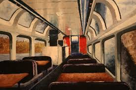 painting inside oil painting i did of the inside of a train imgur