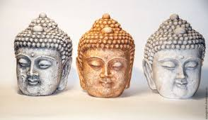 buddha statues for home decor buy buddha head made of concrete bronze clay stone aged on