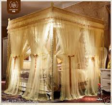 poster bed canopy curtains luxury bed canopy curtain valance double layers stainless steel