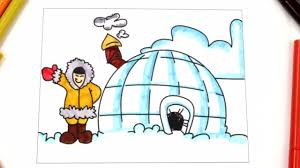 coloring igloo learn types of houses house coloring pages for