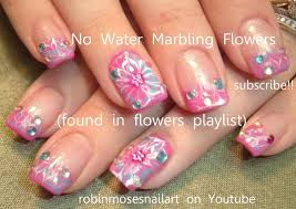diy drag no water marble flower nail art tutorial nails arts