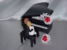 piano cake topper wedding cake toppers piano piano and groom wedding cake