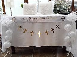 communion decorations communion table decoration white gold