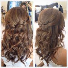 32 pretty half up half down hairstyles u2013 partial updo wedding