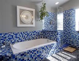 Blue Glass Tile Bathroom Bathroom Glass Tile Interior Design
