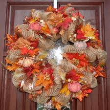 shop orange fall wreath on wanelo