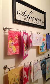 hanging kids artwork getting organized with kids 5 diy projects kids art galleries