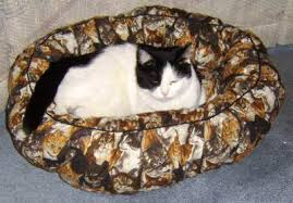 Cat Bed Pattern Free Small Pet Bed Sewing Pattern