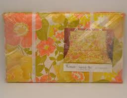 wamsutta supercale plus twin flat sheet 70s mod floral hippie