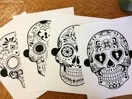 sugar skull printable masks my craftily after