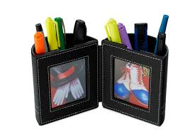 amazon com desk organizer pen and pencil holder with picture