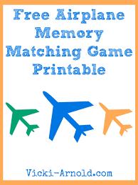 free airplane memory matching game printable free homeschool deals