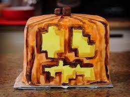 minecraft jack o lantern cake quake n bake youtube