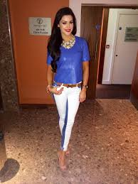 what i wore two tone jeans blue leather top u0026 louboutins so