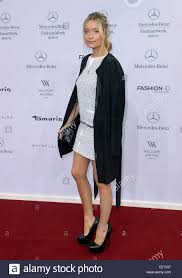 marc cain designer tv presenter whitmore arrives for the show of fashion