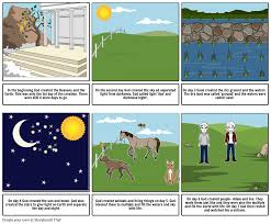 creation of the world storyboard by keene
