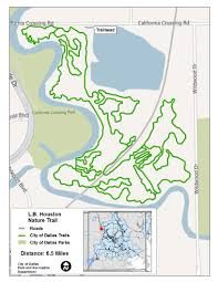 Dallas Metroplex Map by Major Nature Trails Dallas Parks Tx Official Website