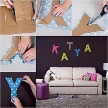 Letter Wall Decor Diy Easy Cardboard Letter Wall Decals Good Home Diy