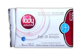 lady anion sanitary napkins night use 290mm 8 pieces pack