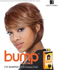 short bump weave hairstyles sensationnel human bump weave